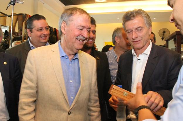 Schiaretti y Macri 2
