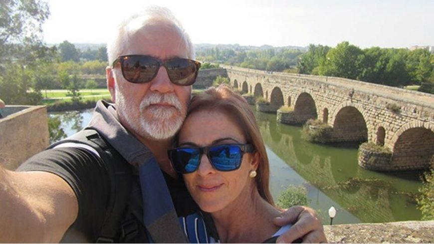 Miguel y su esposa Arantxa. Cada vez que pueden, emprenden un viaje para conocer nuevos paisajes.