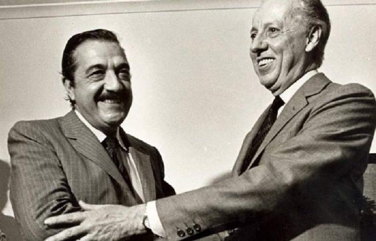 Alfonsín (UCR) y Luder (PJ) - Candidatos a presidente en las elecciones de 1983.