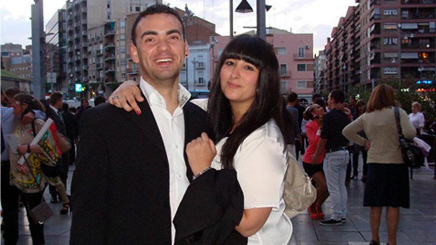 Darío junto a su novia, Laura
