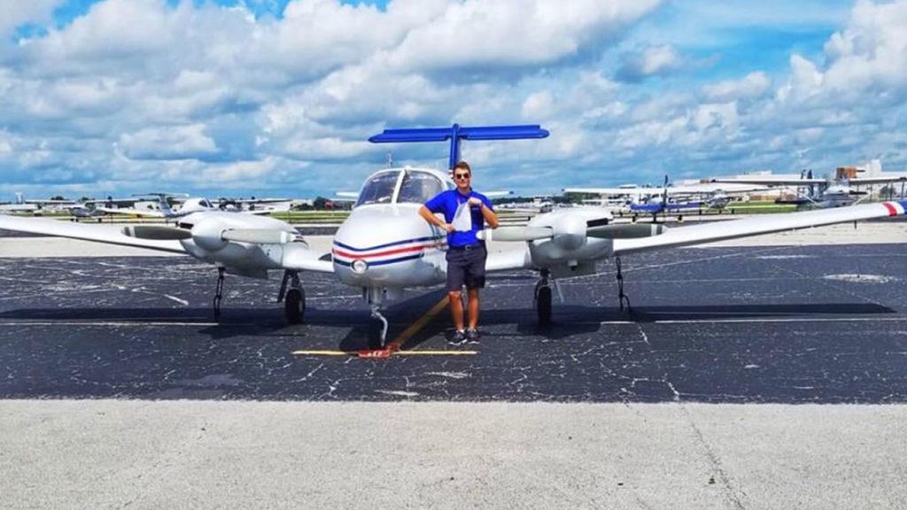 En el aeropuesto de Daytona Beach