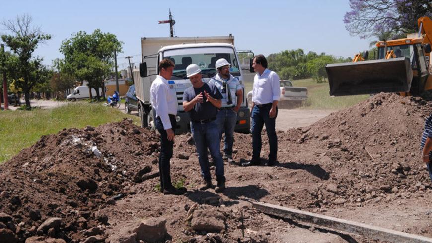 García Aresca recorrió los trabajos en Pueyrredón y Deán Funes