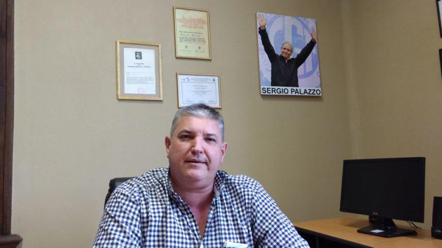 Marcos Quaglino, secretario general de La Bancaria nos recibió en su oficina