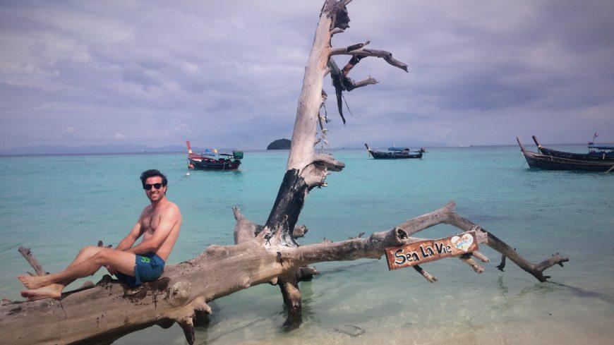 Disfrutando de las playas de Koh Lipe, en Tailandia.
