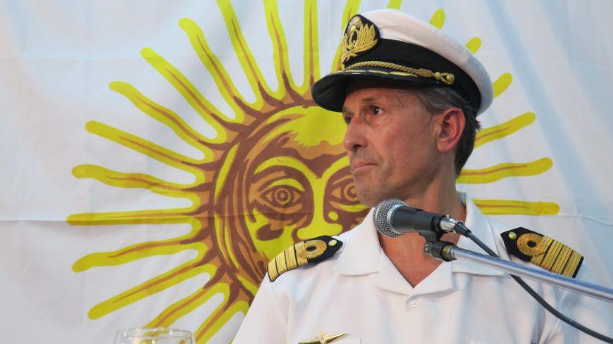 Enrique Balbi, vocero de la Armada Argentina