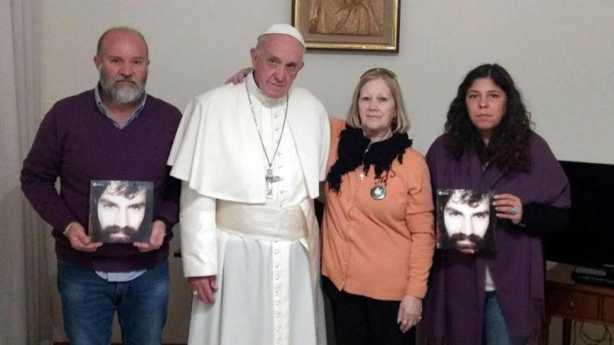 El Papa recibió a la familia Maldonado