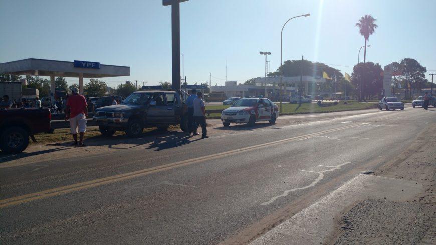 El accidente ocurrió a metros del ACA (Foto El Periódico)