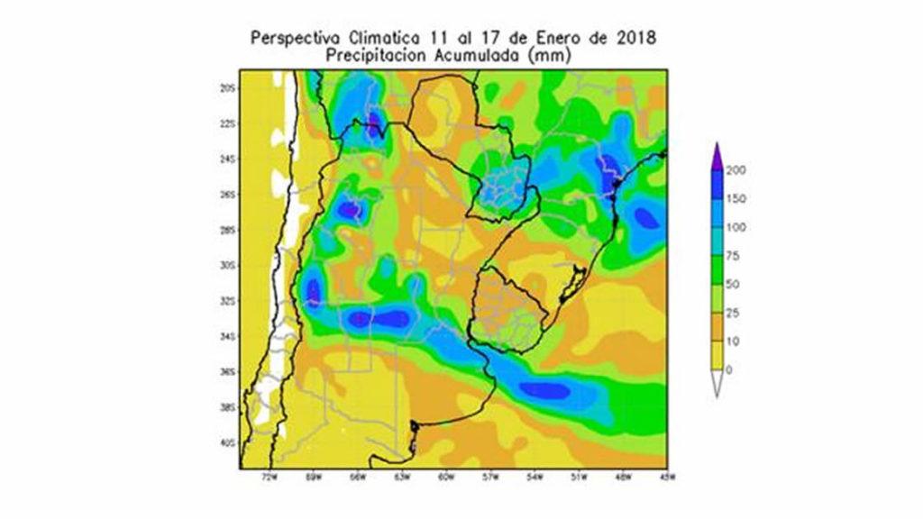 Previsón metereológica entre el 11 y 17 de enero