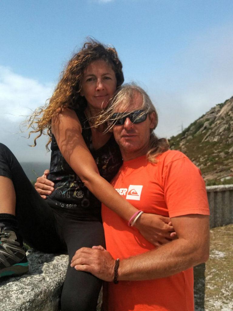 Junto a su esposa Susana.