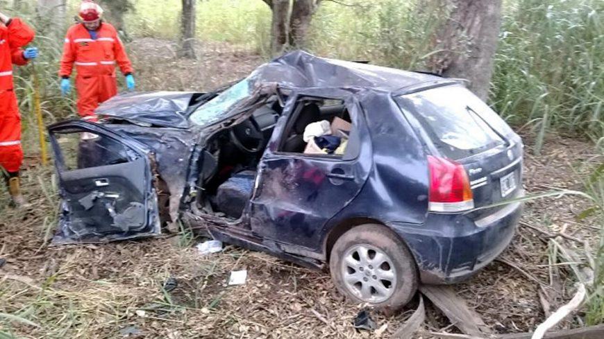 Automóvil protagonista del accidente