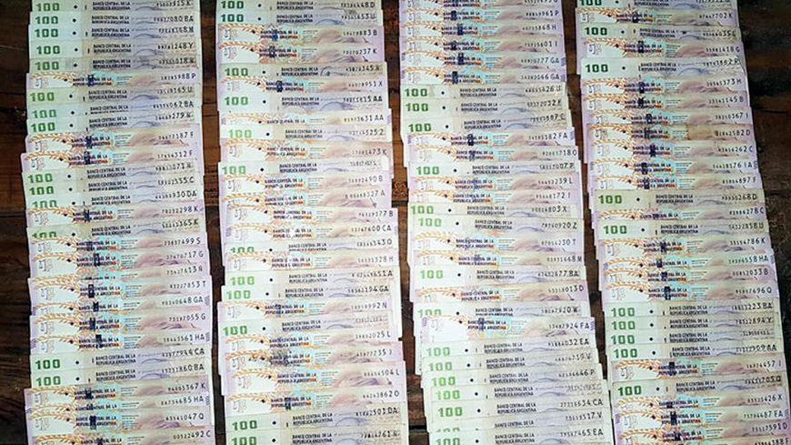 Más de 130 mil pesos encontrados